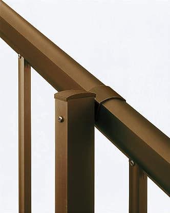 ↑シンプレオ フェンスTK型 〈傾斜地用 傾斜用自由柱 B1__XFXX0753