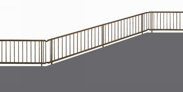 ↑シンプレオ フェンスTK型 傾斜地用 傾斜用自由柱 T80 B1_1975_XFB10011B