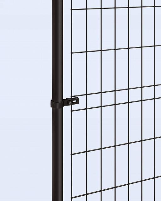 ↑イーネット フェンス1M1MK型〈間仕切柱タイプ 端柱用部品(スチール 中間部 OY_部分_XFXX0497