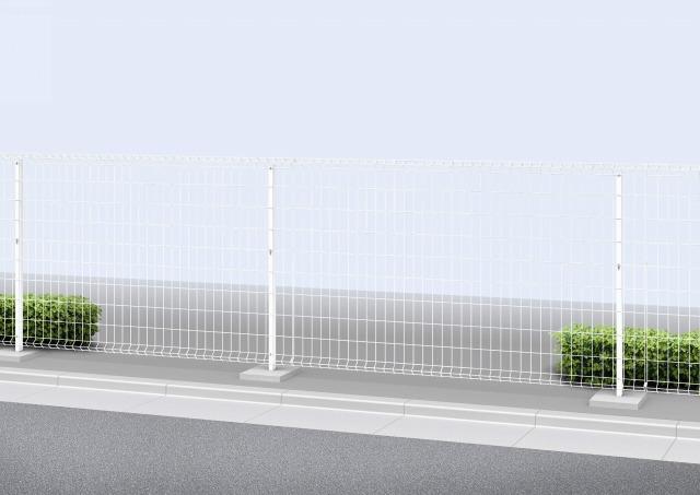 ↑イーネット フェンス1F型〈水平地用 スチール自由柱施工 T120 OZ_商品単体外観_XFOZ0342