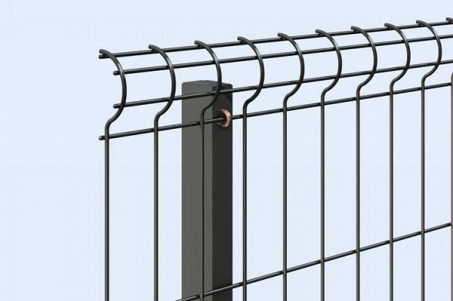 ↑イーネット フェンス2F2FK型〈自由柱タイプ 柱の選択 スチール柱 TM_部分_XFXX0606