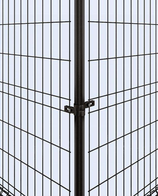 ↑イーネット フェンス1M1MK型〈間仕切柱タイプ コーナー納まり 角柱用部品中間部(スチール 中間部 OY_部分_XFXX0502