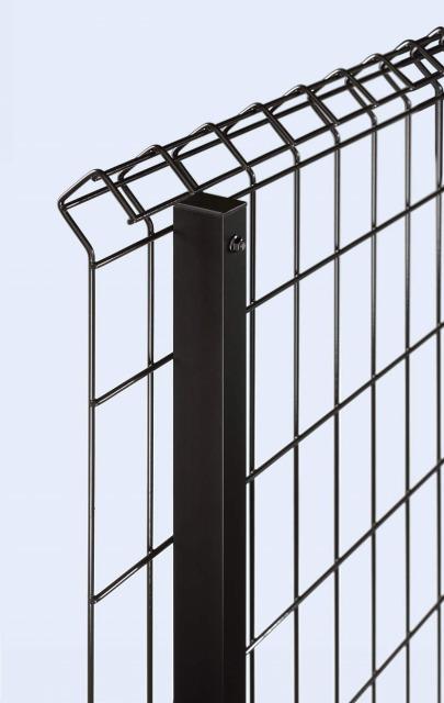 ↑イーネット フェンス1F1FK型〈自由柱タイプ スチール自由柱(T60T120OY_部分_XFXX0485