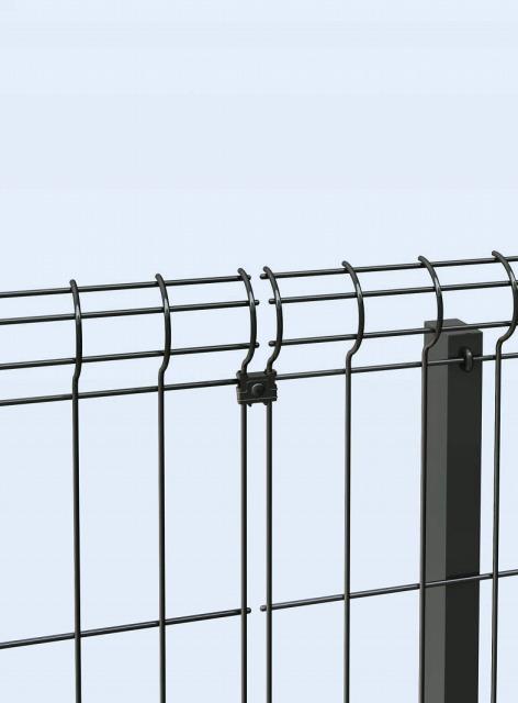 ↑イーネット フェンス2F2FK型〈自由柱タイプ 直線継手(ステンレス TM_部分_XFXX0603