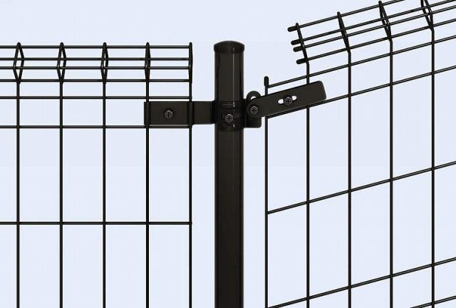 ↑イーネット フェンス1M1MK型〈間仕切柱タイプ 1M型(水平地用本体との連続施工 端部キャップ 上部 OY_部分_XFXX0503