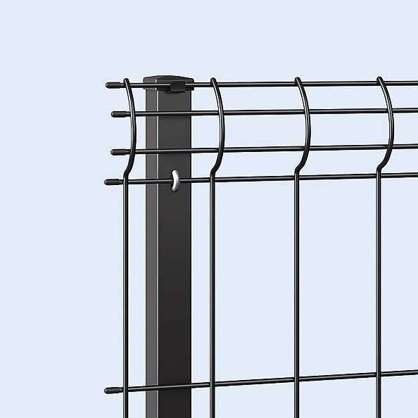 ↑イーネット フェンス3F型〈自由柱タイプ 端部キャップ B7_部分_XFXX0765