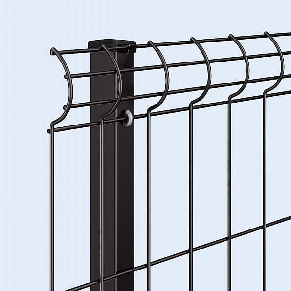↑イーネット フェンス3F型〈自由柱タイプ スチール自由柱(家屋側 B7_部分_XFXX0768