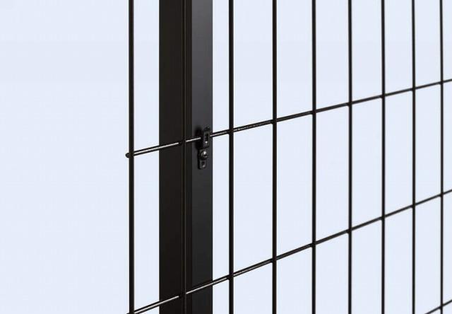 ↑イーネット フェンス1F1FK型〈自由柱タイプ スチール自由柱(T150・T180・アルミ自由柱(T60T120OY_部分_XFXX0486