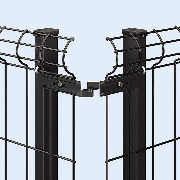 ↑イーネット フェンス3F型〈自由柱タイプ コーナー部品(ステンレス B7_部分_XFXX0767