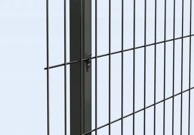 ↑イーネット フェンス2F2FK型〈自由柱タイプ フックボルト アルミ自由柱の場合 TM_部分_XFXX0609