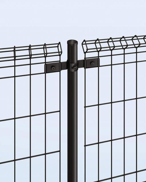 ↑イーネット フェンス1M1MK型〈間仕切柱タイプ 中柱用部品(スチール 上部 OY_部分_XFXX0498