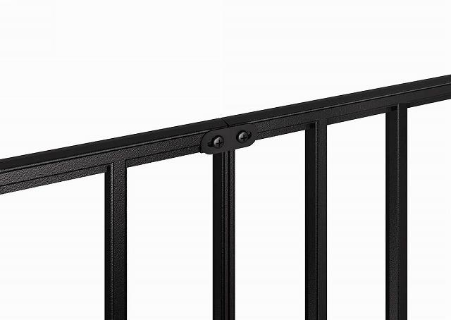 ↑シャローネ フェンス T60スライド自由柱施工(接続金具家屋側_部分_XFXX0666B7