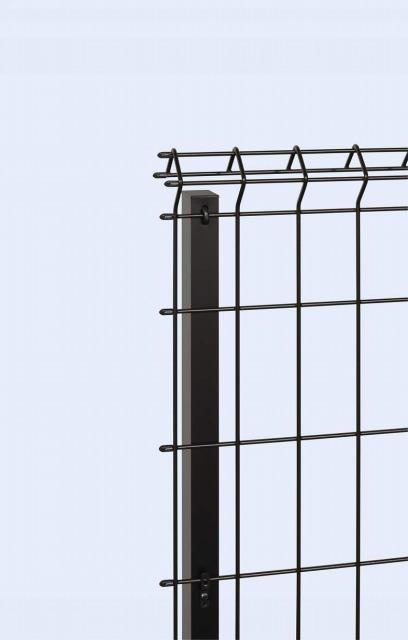 ↑イーネット フェンス1F1FK型〈自由柱タイプ 端部キャップ OY_部分_XFXX0482