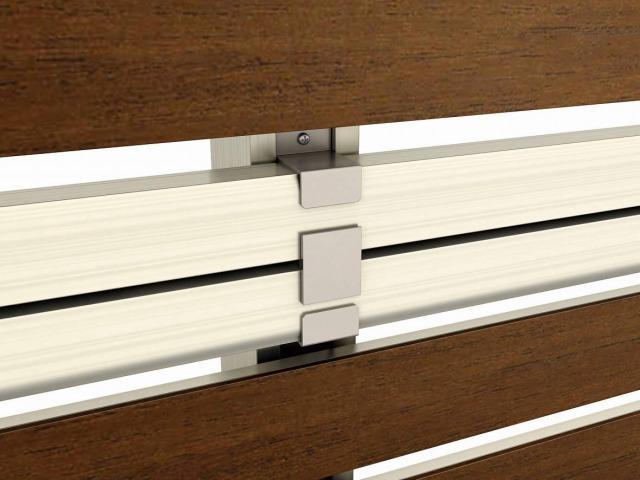 ↑2段支柱(自立建て用多段支柱用胴縁固定金具 H2 YF__XFXX0653