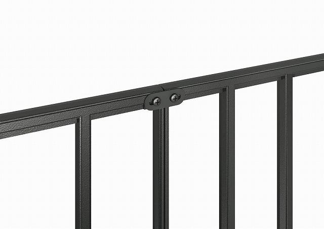 ↑シャローネ フェンス T60スライド自由柱施工(接続金具家屋側_部分_XFXX0666OA
